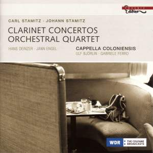 Stamitz - Clarinet Concertos & Orchestral Quartet Product Image