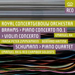 Brahms: Piano Concerto No. 1 & Violin Concerto & Schumann: Piano Quartet Product Image