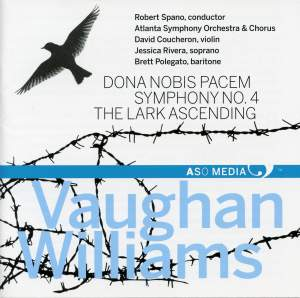 Vaughan Williams: Dona nobis pacem, Symphony No. 4 & The Lark Ascending Product Image