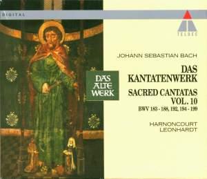 JS Bach: Sacred Cantatas Vol.10 - BWV 183-188, 192 & 194-199