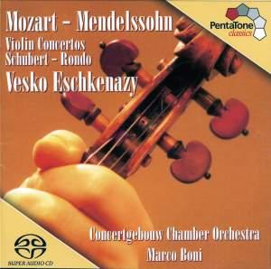 MOZART: Violin Concerto No. 5 / MENDELSSOHN: Violin Concerto in D minor