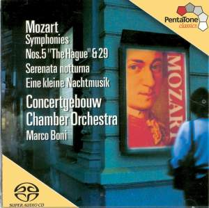 Mozart : Symphonies n°5 & 29 - Sérénades n°6 & 13