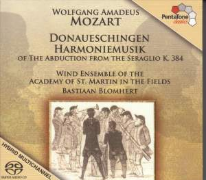 MOZART: Donaueschingen Harmoniemusik of The Abduction from the Seraglio, K. 384