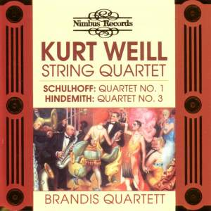 Kurt Weill: String Quartet