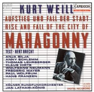 Weill, K: Aufstieg und Fall der Stadt Mahagonny Product Image