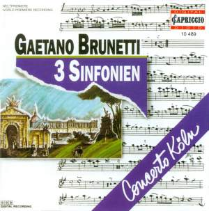 Brunetti: Symphonies Nos. 22, 26 & 36 Product Image