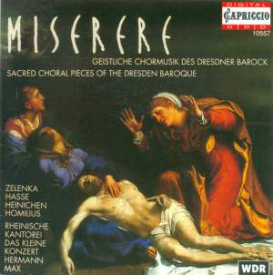 Miserere - Sacred Choral Pieces Of The Dresden Baroque Product Image