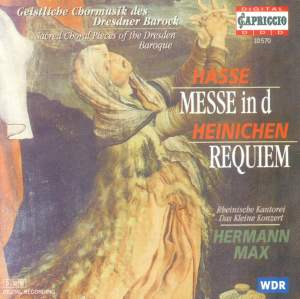 Hasse, J A: Mass in D Minor, etc. Product Image