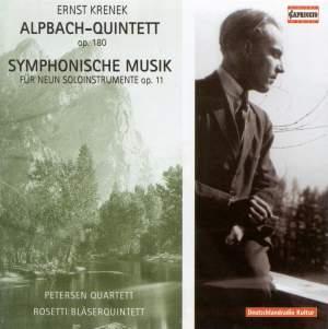 Krenek: 'Alpbach' Quintet, Op.180, etc.