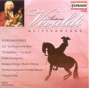 VIVALDI, A.: Recorder Concertos, RV 433, 439, 441 / Flute Concertos, RV 428, 434 / Flautino Concertos, RV 443, 444 (Budapest Strings, Concerto Koln) Product Image