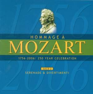 MOZART (A HOMAGE) - 250 YEAR CELEBRATION, Vol. 2 (Serenade and Divertimenti) Product Image