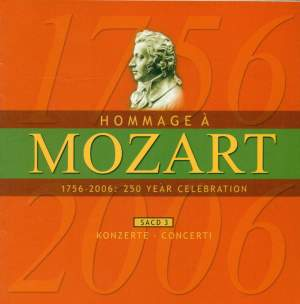 MOZART (A HOMAGE) - 250 YEAR CELEBRATION, Vol. 3 (Concertos) Product Image