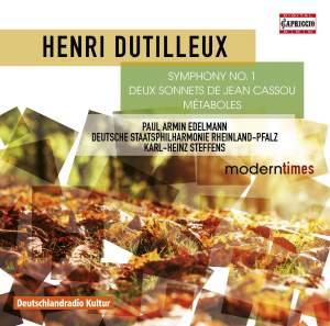 Dutilleux: Symphony No. 1, 2 Sonnets de Jean Cassou & Métaboles Product Image