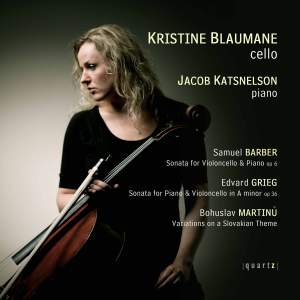 Barber, Grieg, Martinu: Works for Cello and Piano