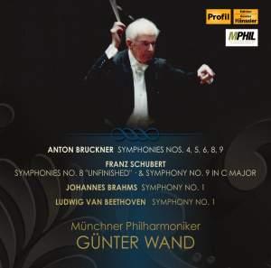 Gunter Wand conducts Bruckner, Schubert, Brahms & Beethoven