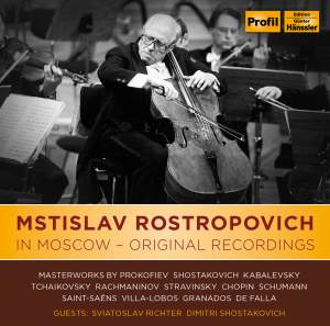 Mstislav Rostropovich in Moscow