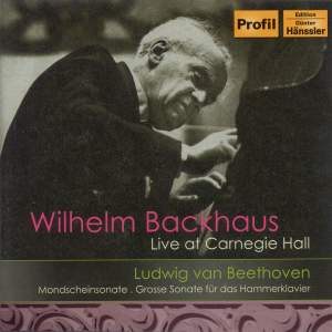 Wilhelm Backhaus live at Carnegie Hall 1956