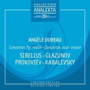 Concertos For Violin: Sibelius, Glazounov, Prokofiev, Kabalevsky, Tchaikovsky Product Image
