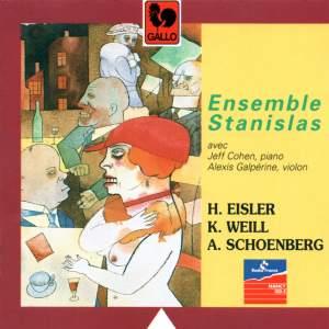 Hanns Eisler – Kurt Weill – Arnold Schoenberg, Ensemble Stanislas