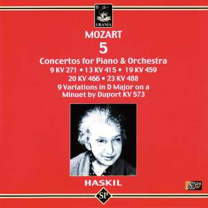 Haskil Plays Mozart: 5 Piano Concertos