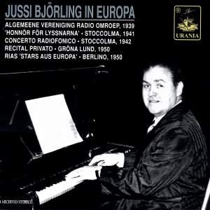 Jussi Björling in Europa