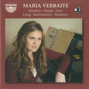 Maria Verbaite plays Schubert, Chopin, Liszt, Grieg, Rachmaninov and Balakirev