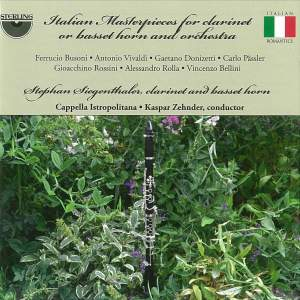 Italian Masterpieces for Clarinet or Basset-horn and Orchestra