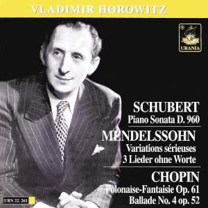 Schubert, Mendelssohn & Chopin: Piano Works