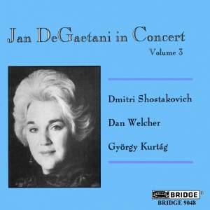 Jan DeGaetani in Concert, Vol. 3