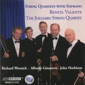 String Quartets with Soprano