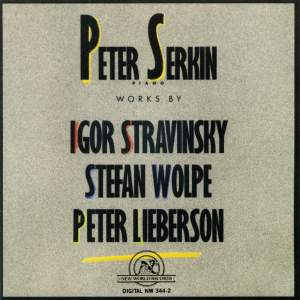 Peter Serkin plays Stravinsky, Wolpe and Lieberson