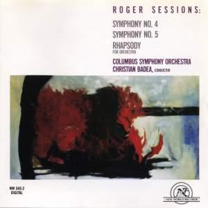 Roger Sessions: Symphonies Nos. 4 & 5