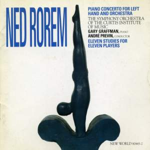 Ned Rorem: Piano Concerto for Left Hand, 11 Studies