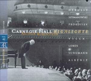 Rubinstein Collection, Vol. 42: Live at Carnegie Hall
