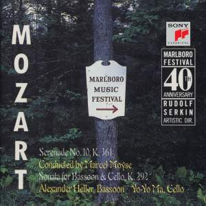 Mozart: Serenade, K. 361 & Sonata for Bassoon & Cello