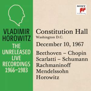 Vladimir Horowitz in Recital at Constitution Hall
