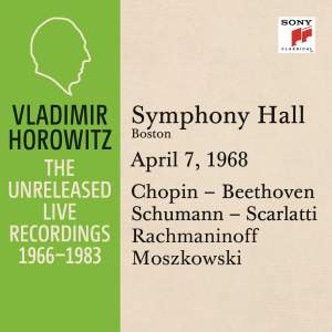 Vladimir Horowitz in Recital at Symphony Hall, Boston, April 7, 1968