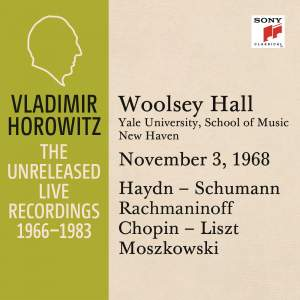 Vladimir Horowitz in Recital at Yale University