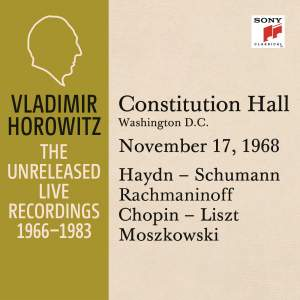 Vladimir Horowitz in Recital at Constitution Hall, Washington D.C., November 17, 1968
