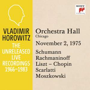 Vladimir Horowitz in Recital at Orchestra Hall, Chicago