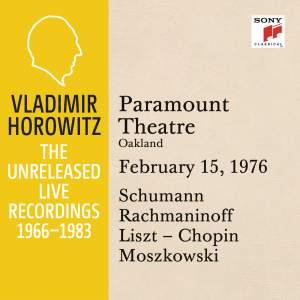 Vladimir Horowitz in Recital at Paramount Theatre, Oakland, February 15, 1976