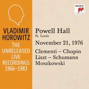 Vladimir Horowitz in Recital at Powell Hall, St. Louis, November 21, 1976