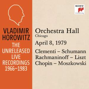 Vladimir Horowitz in Recital at Orchestra Hall