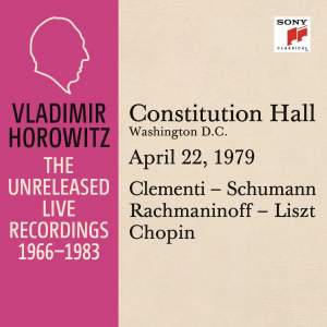 Vladimir Horowitz in Recital at Constitution Hall, Washington D. C., April 22, 1979