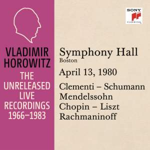 Vladimir Horowitz in Recital at Symphony Hall, Boston,