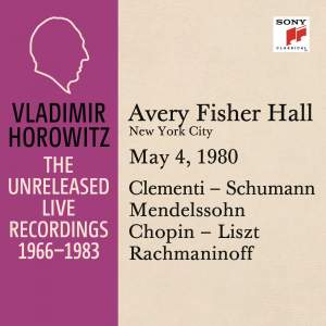 Vladimir Horowitz in Recital at Avery Fischer Hall, New York City, May 4, 1980