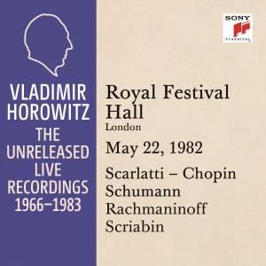 Vladimir Horowitz in Recital at the Royal Festival Hall, London, May 22, 1982