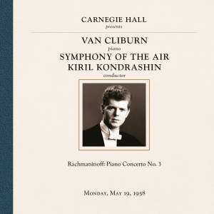 Van Cliburn at Carnegie Hall, New York City, May 19, 1958