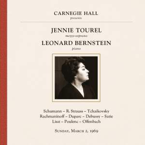 Jennie Tourel and Leonard Bernstein at Carnegie Hall, New York City, March 2, 1969