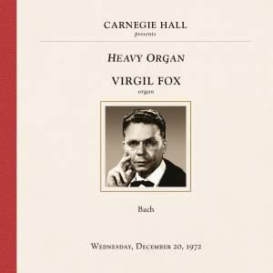 Virgil Fox at Carnegie Hall, New York City, December 20, 1972